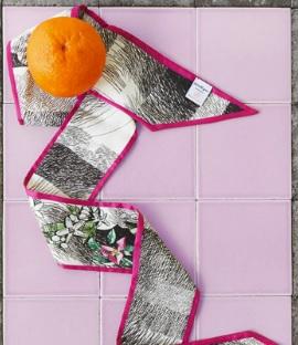 frutta arancia tessuto